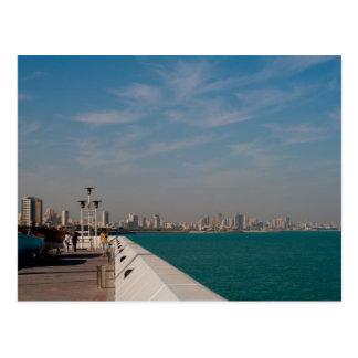 Salmiya, Kuwait-Stadt scape Ansicht Postkarte