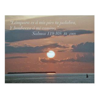 Salmos 119-105 postkarte