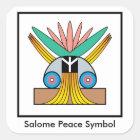 Salome Friedenssymbol-Aufkleber Quadratischer Aufkleber