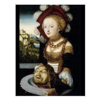 Salome mit Kopf von John-Baptisten Postkarte