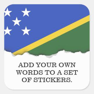 Salomonenflagge Quadratischer Aufkleber