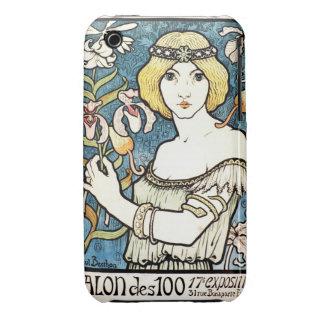 Salon-DES-Cent-Vintage Kunst Nouveau Pauls Berthon iPhone 3 Covers