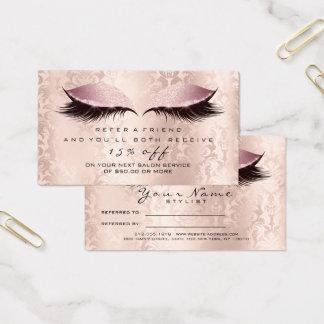 Salon-Empfehlungs-Karten-Damast-Make-uprosa Visitenkarte