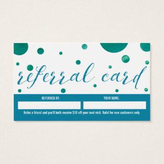 Salon-Empfehlungs-Visitenkarte Visitenkarten