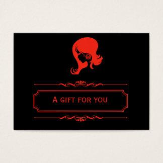 Salon-Geschenkgutschein (Firebrick) Jumbo-Visitenkarten