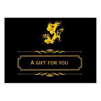 Salon-Geschenkgutschein (Gold) Visitenkarten Vorlage