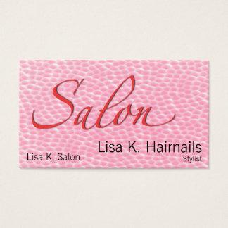 Salon-rosa Blasen Visitenkarte