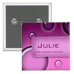 Salon-sprudelt Namensumbau-Knopf-Brosche lila Button