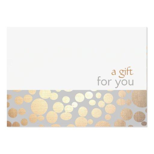 Salon-und Wellness-Center-Gold und graues Visitenkarten