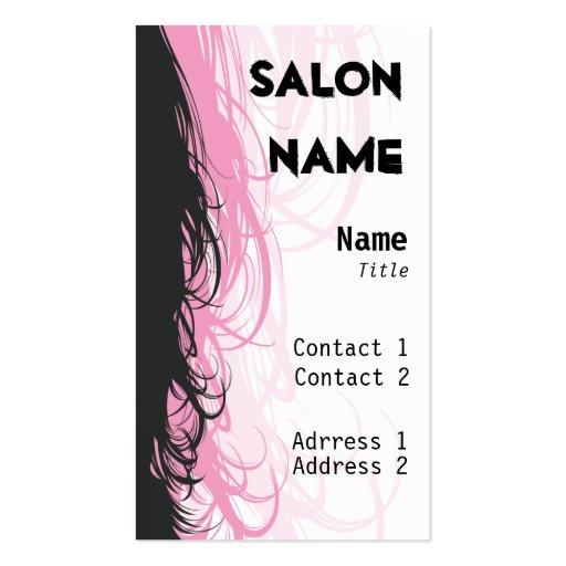 Salon-Visitenkarte - besonders angefertigt