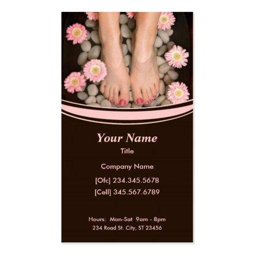 Salon-Wellness-Center-Geschäfts-Karte Visitenkartenvorlage
