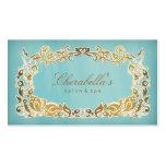 Salon-Wellness-Center-Geschäfts-Karten-blaues mit Visitenkartenvorlage
