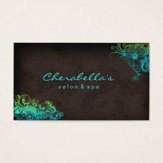 SalonblumenVisitenkarte der Schönheits-311 blaues Visitenkarte