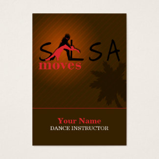 Salsa-Bewegungen - Geschäft, Zeitplan-Karte Visitenkarte