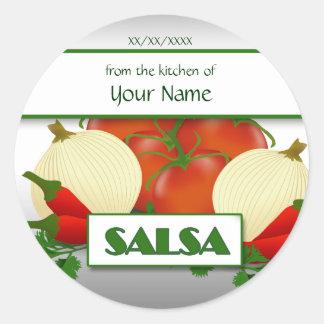 Salsa, die kundenspezifischen Aufkleber-Aufkleber Runder Aufkleber