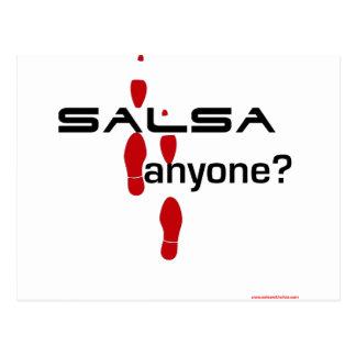 Salsa jedermann? postkarte