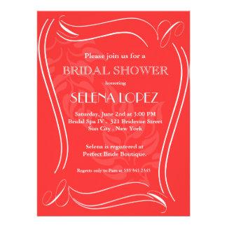 Salsa-rote Brautpartyeinladungen Einladung