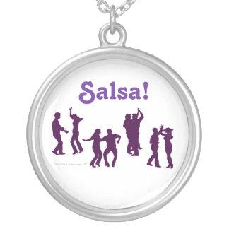 Salsa-Tanzen-Pose-Silhouetten kundenspezifisch Halskette