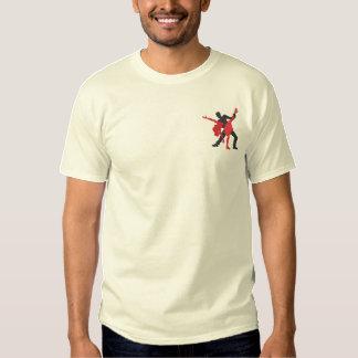 Salsa-Tänzer Besticktes T-Shirt