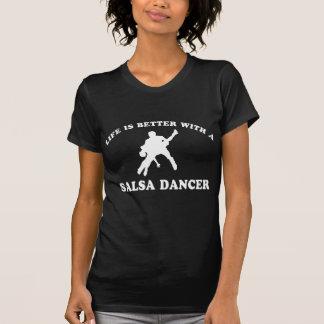 Salsa-Tänzer-Entwürfe T-Shirt