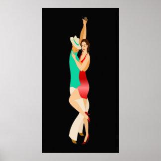Salsa-Tänzer-Tanz-Reihe Poster