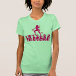 SALSERA T - Shirt mit Tanzenmädchen- u. -Blumenent