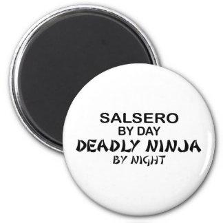 Salsero tödliches Ninja bis zum Nacht Runder Magnet 5,7 Cm