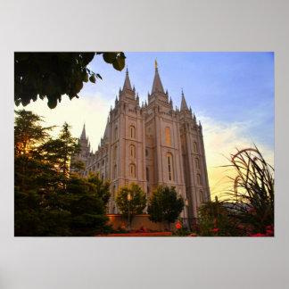 Salt Lake City, LDS Tempel Poster