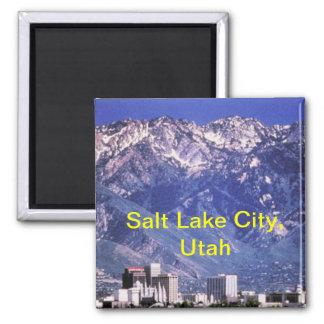 Salt Lake City Magnet Quadratischer Magnet