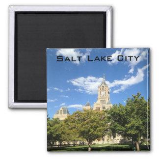 Salt Lake City - Rathaus Quadratischer Magnet