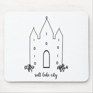 Salt Lake City Utah einfaches modernes Tempels Mousepad