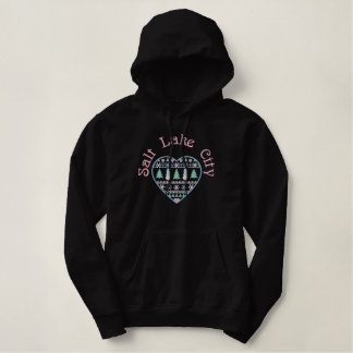 Salt Lake City Utah gestickter Hoodie