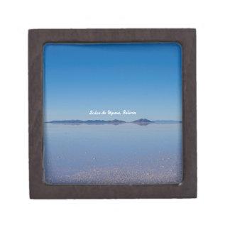 Salt Lake in Salar de Uyuni, Bolivien Kiste