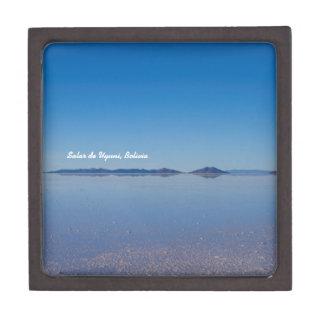 Salt Lake in Salar de Uyuni, Bolivien Schachtel