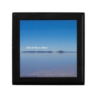 Salt Lake in Salar de Uyuni, Bolivien Schmuckschachtel