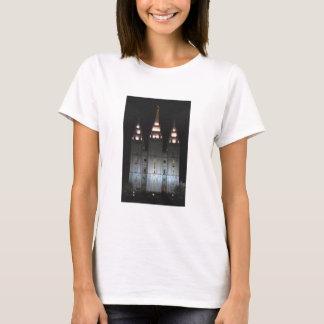 Salt Lake-Tempel nachts T-Shirt