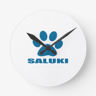 SALUKI HUNDEentwürfe Runde Wanduhr