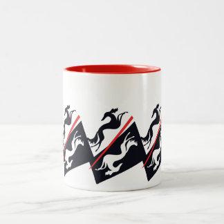 SalukisBecher Zweifarbige Tasse
