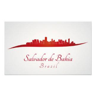 Salvador De Bahia skyline im Netz Photo Druck