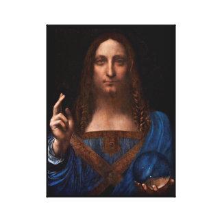 Salvador mundi durch Leonardo da Vinci Leinwanddruck
