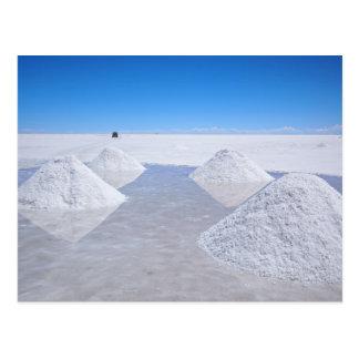 Salz-Ebenepostkarte Salars de Uyuni Postkarte