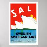SALZ ~ schwedische amerikanische Linie Plakate