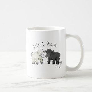 Salz-und Pfeffer-Schaf-Salz-Schüttele-Apparat Kaffeetasse