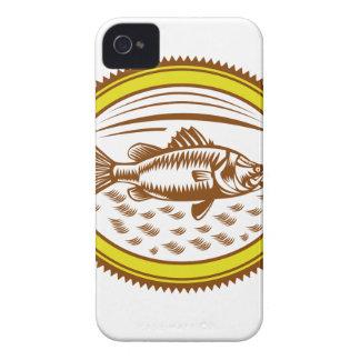 Salz-Wasser-barramundi-Seite-OVAL iPhone 4 Case-Mate Hülle