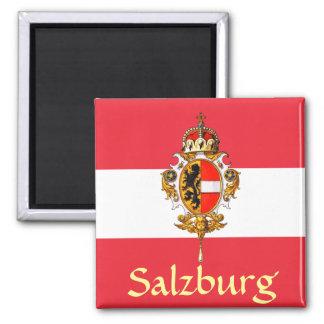 Salzburg-Wappen Quadratischer Magnet