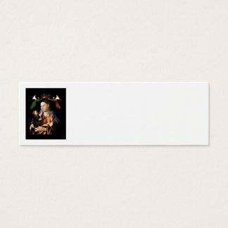 Salzen von Madonna und von Christus-Kind Mini Visitenkarte