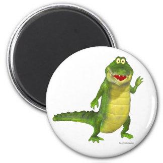 Salzig der Krokodil-Kühlschrankmagnet Runder Magnet 5,1 Cm