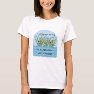 Salziger Wortspiel-T - Shirt - fertigen Sie
