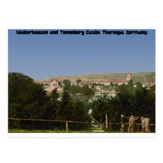 Salzungen mit dem Schloss, von Seeberg, Thüringen Postkarte