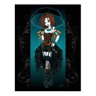 """Samara"" Steampunk Cyber-Fee-Postkarte Postkarte"